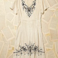 Vintage 1930s Embroidered Dress