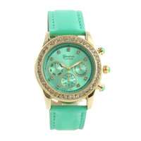 MINT SPARKLING DIAMONDS WATCH