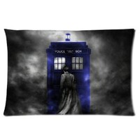 "Doctor Who Art Print Poster Pillow Case Protector Rectangle Pillow Case Cover One Side 16""x24"""