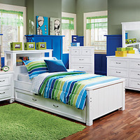 Cottage Colors White 5 Pc Full Bookcase Bedroom