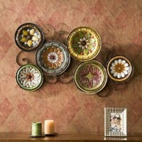 Scattered Wall Sculpture Italian Plates Wall Art