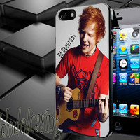 Ed Sheeran and Guitar Case For iPhone 4/4s, iPhone 5/5S/5C, Samsung S3 i9300, Samsung S4 i9500 *rafidodolcasing*