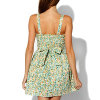 Papaya Clothing Online :: FLORAL BOW PUFF MINI DRESS