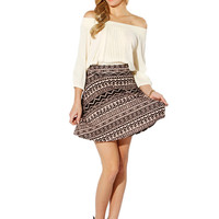 Papaya Clothing Online :: GEO PRINT FLARE SKIRTS