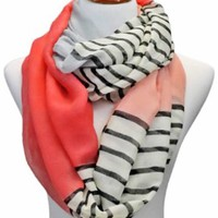 Lightweight Infinity Solid Color & Striped Loop Scarves
