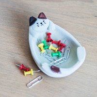 Kitty Little Things Jewelry Dish | Mod Retro Vintage Decor Accessories | ModCloth.com