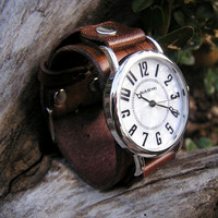 Mini Big & Bold Brown Leather Wrist Watch