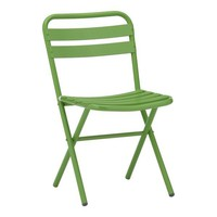 Xtra Green Folding Aluminum Chair | Crate&Barrel