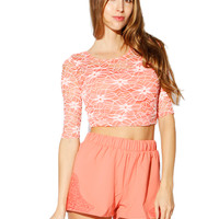 Papaya Clothing Online :: LACY BACK BOW CROP TOP