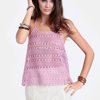 Freedom Of Speech Crocheted Top | Threadsence