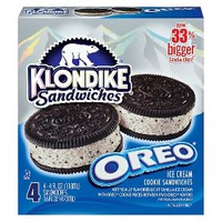 Klondike Oreo Ice Cream Sandwich 4 pack