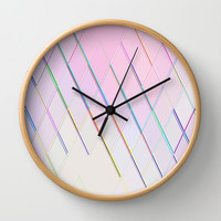 Re-Created Vertices No. 5 Wall Clock by Robert S. Lee