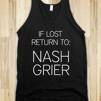 IF LOST RETURN TO NASH GRIER