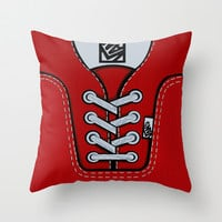Red Vans shoes Throw Pillow case by Three Second