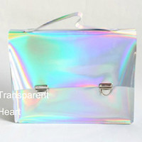 Holographic bag / Leathere bag / briefcase / Messenger / PU Leather bag Cambridge briefcase for women