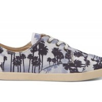 Navy Palm Trees Canvas Men's Paseos