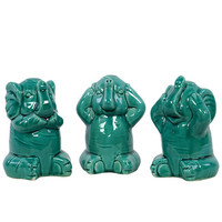 Urban Trends Ceramic Elephant (Set of 3)