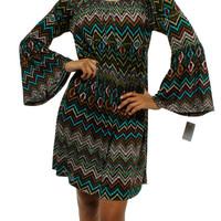 Teal Tribal Chevron Dress