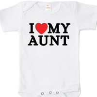 I Love My Aunt Baby Bodysuit, One Piece, Baby Apparel