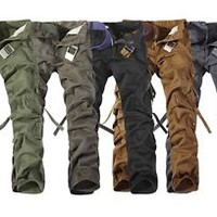 Jeansian Mens Military Army Cargo Camo Combat Pants Tourser 5 Colors 9 Size J201