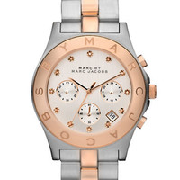 Ladies' Rose Gold and Silver Chronograph Watch | Lord and Taylor