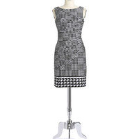 Sleeveless Houndstooth Dress | Lord and Taylor