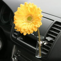 Fun Cute Auto Vase Yellow Daisy Fun Teen Car Accessory