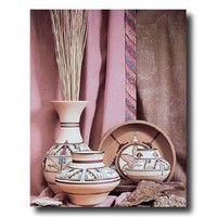 Southwest Native American Indian Pottery And Vases Picture Art Print