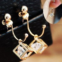 Dazzling Cubic Rhinestone Fashion Earrings