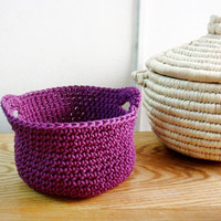 Crochet Baskets Set of 3 Home Decoration Storage