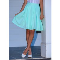 EVERLY:Brighter & Better Skirt-Mint