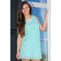 EVERLY:It's Bow Time Dress-Mint