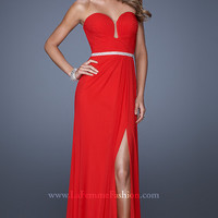 Full Length Strapless Evening Gown