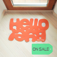 SALE** Hello / Bye. Design door mat. Custom floor mat