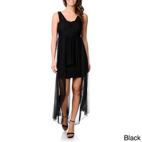 Onyx Nite Women's Black Dramatic High/Low Dress
