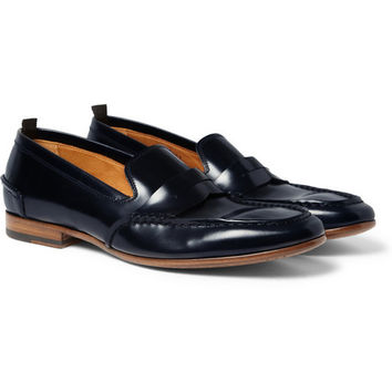 Alexander McQueen - Leather Penny Loafers | MR PORTER