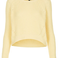 Knitted Curve Crop Jumper