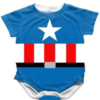 Striped Handmade Captain America Onesuit - $25