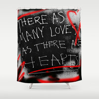 Punk Love Shower Curtain by Nina May