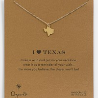 Dogeared 'Reminder - I Heart Texas' Boxed Pendant Necklace
