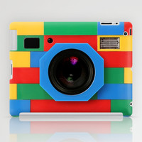 classic retro full color rubik cube camera apple iPad 2, 3 and iPad mini Case