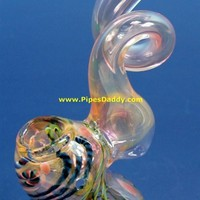 Twisty Corol Glass Bubbler - Light Pink