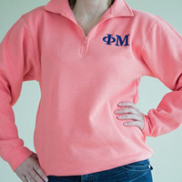 Preppy Sorority Quarter Zip Sweatshirt