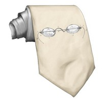 Vintage Spectacles Eye Glasses Cream Tie