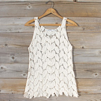 La Conner Lace Tank in Cream