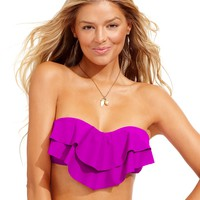 Hula Honey Tiered Flounce Bikini Top