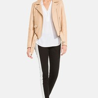sandro 'Veine' Leather Moto Jacket | Nordstrom