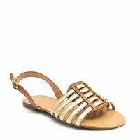 More Adventurous Metallic Sandals