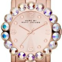Marc by Marc Jacobs Rose Dial Rose Gold-tone Ladies Watch MBM3223