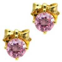 Juicy Couture 'Couture Cut' Stud Earrings, Pink/Gold